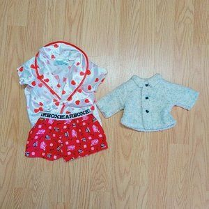 Other - Build A Bear Heart Robe with Be Mine shorts